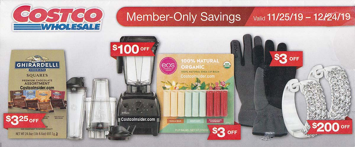 Costco December 2019 Coupon Book Cover