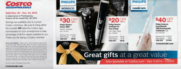 Costco December 2019 Coupon Book Page 1