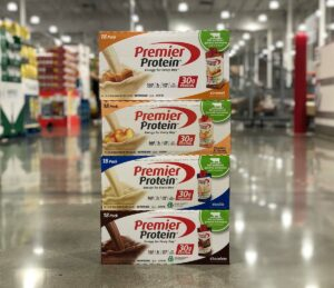 Premier Protein Flavors -- Caramel, Peaches & Cream, Vanilla, and Chocolate