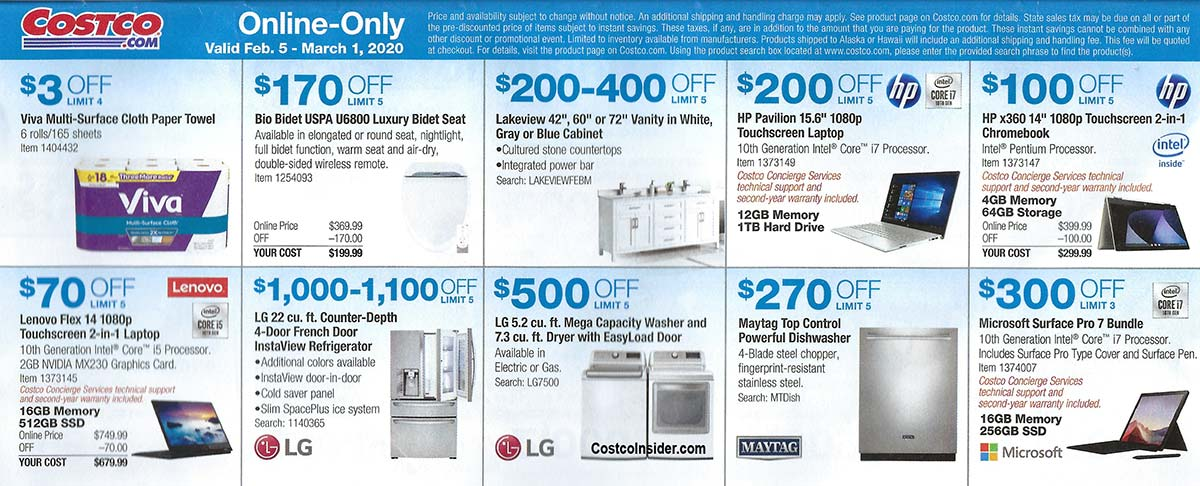 Costco February 2020 Coupon Book Page 20