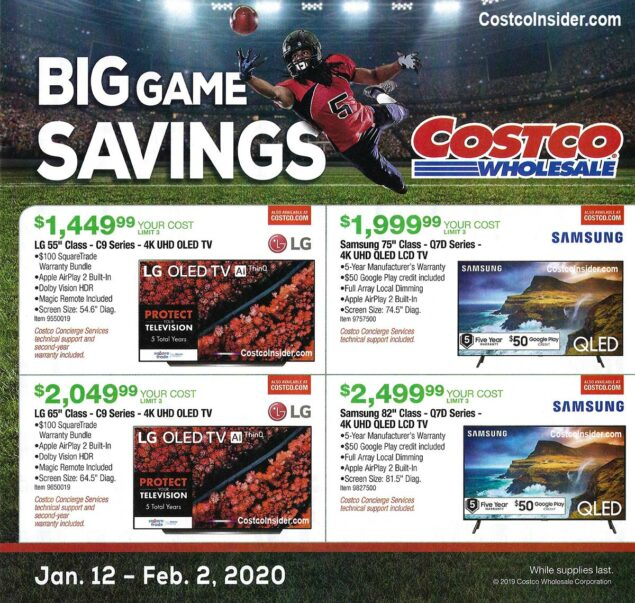 Costco Super Bowl TV Deals 2020 Page 1