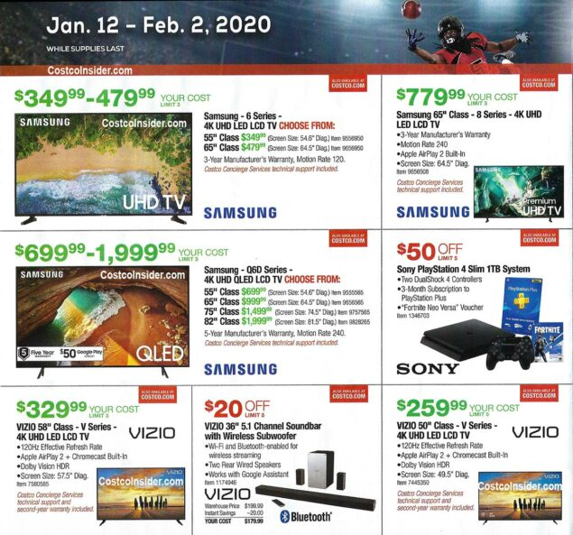 Costco Super Bowl TV Deals 2020 Page 2