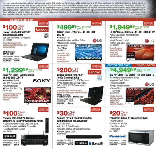 Costco Super Bowl TV Deals 2020 Page 3