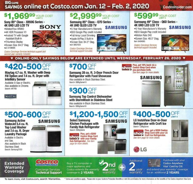 Costco Super Bowl TV Deals 2020 Page 4