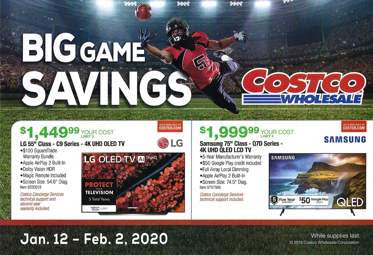 Costco Super Bowl TV Deals 2020 Cover