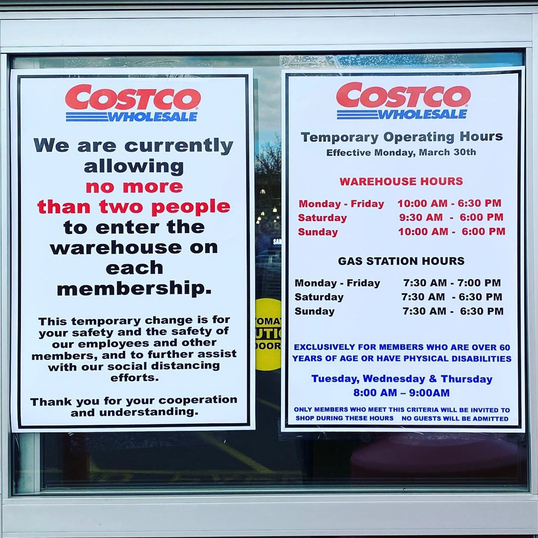 Costco Temporary Hours