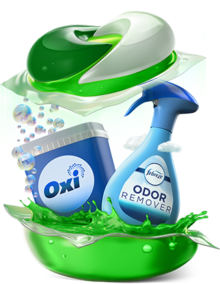 Gain Flings Oxi and Febreze