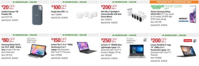 Costco August 2020 Coupon Book Page 2