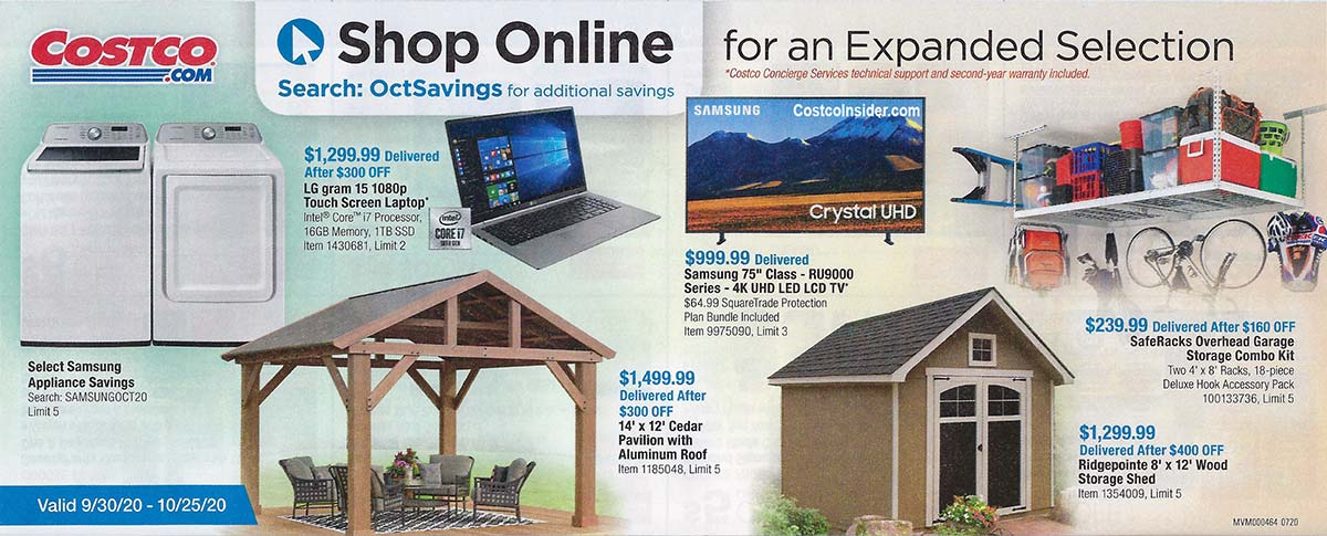 Costco October 2020 Coupon Book Page 22