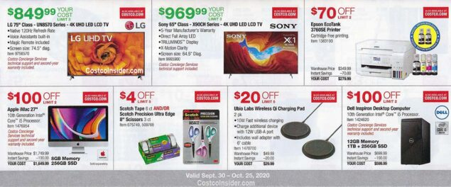 Costco October 2020 Coupon Book Page 9