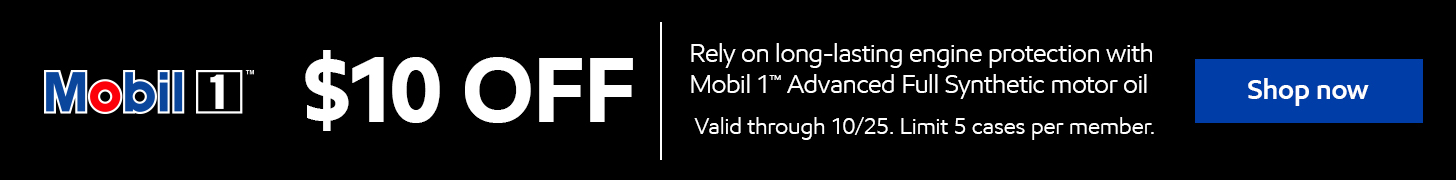 Mobil 1 $10 off