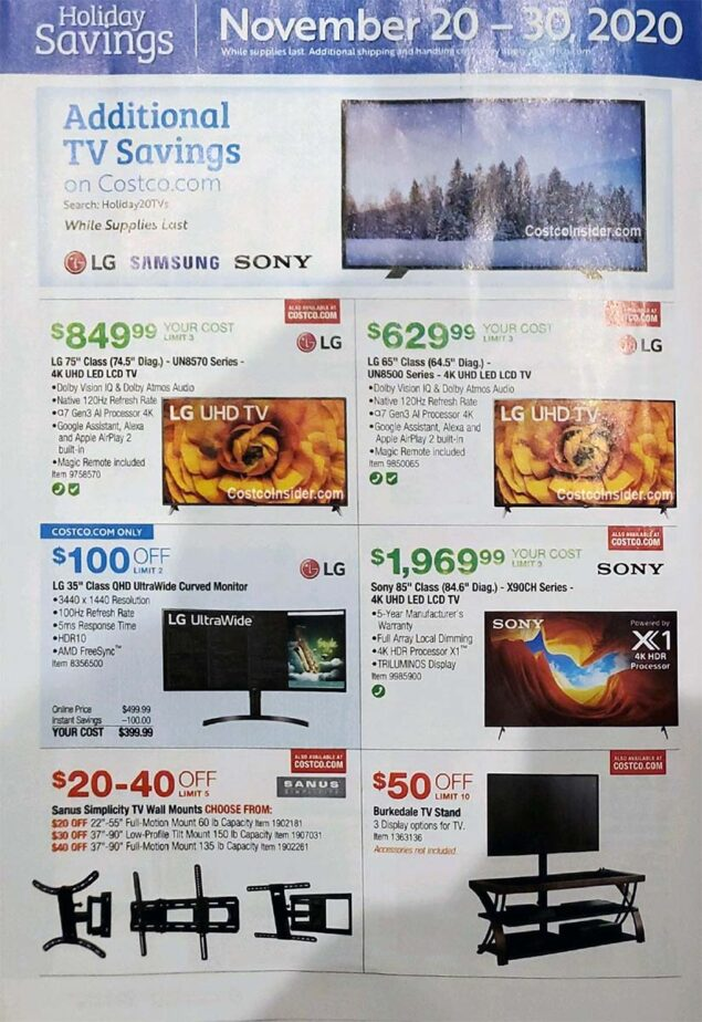 Costco Black Friday 2020 Ad Page 15