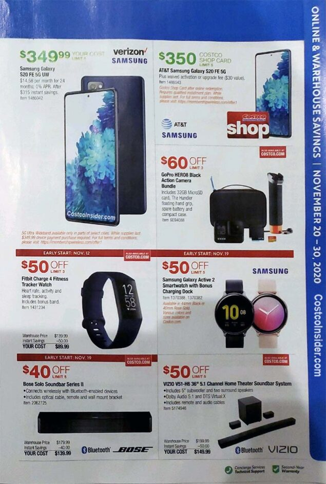 Costco Black Friday 2020 Ad Page 16