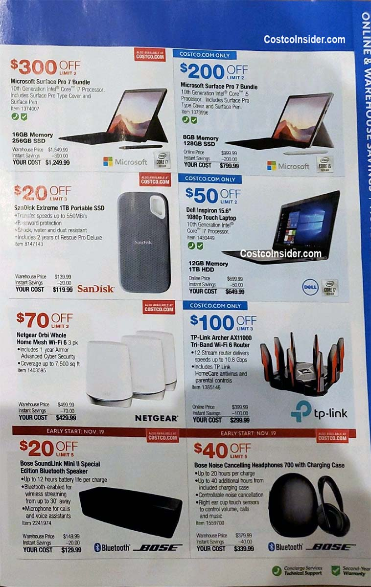 Costco Black Friday 2020 Ad Page 18