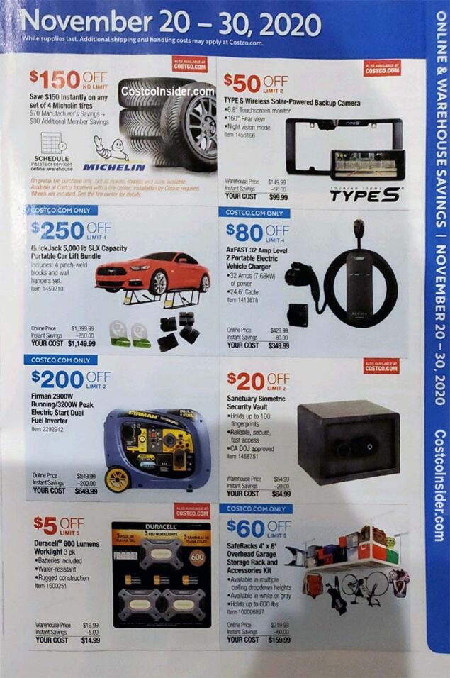 Costco Black Friday 2020 Ad Page 20