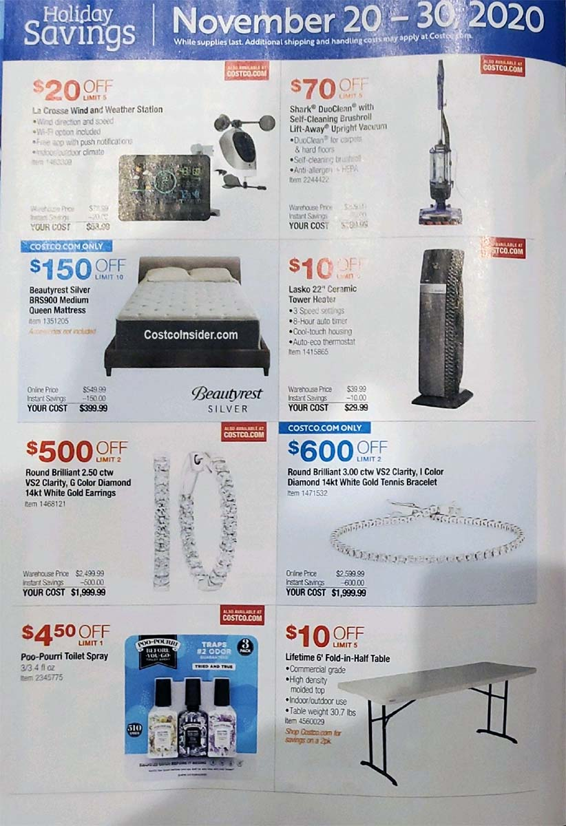 Costco Black Friday 2020 Ad Page 21
