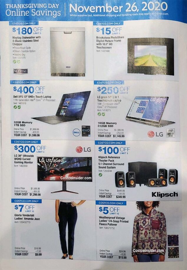 Costco Black Friday 2020 Ad Page 23