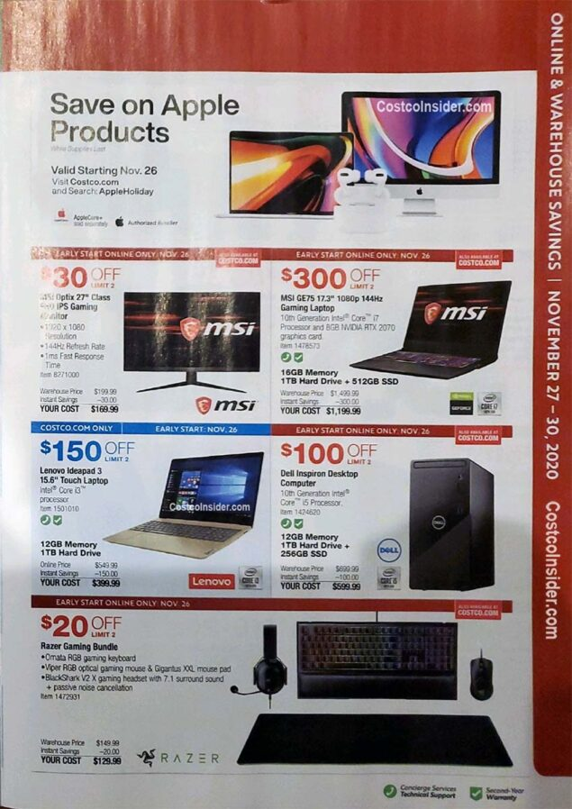 Costco Black Friday 2020 Ad Page 26