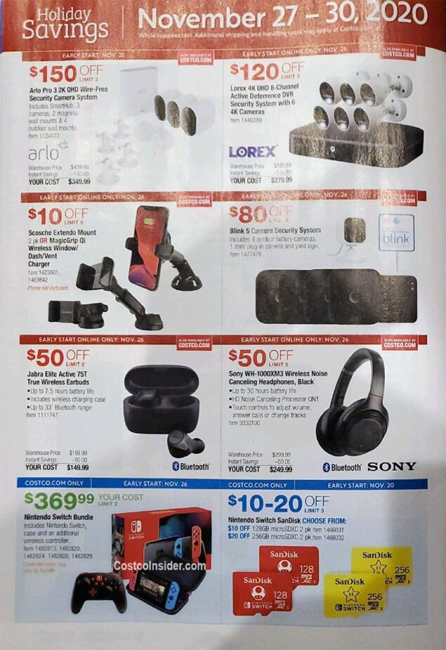 Costco Black Friday 2020 Ad Page 27
