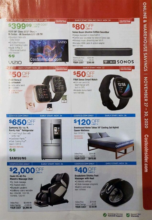 Costco Black Friday 2020 Ad Page 28