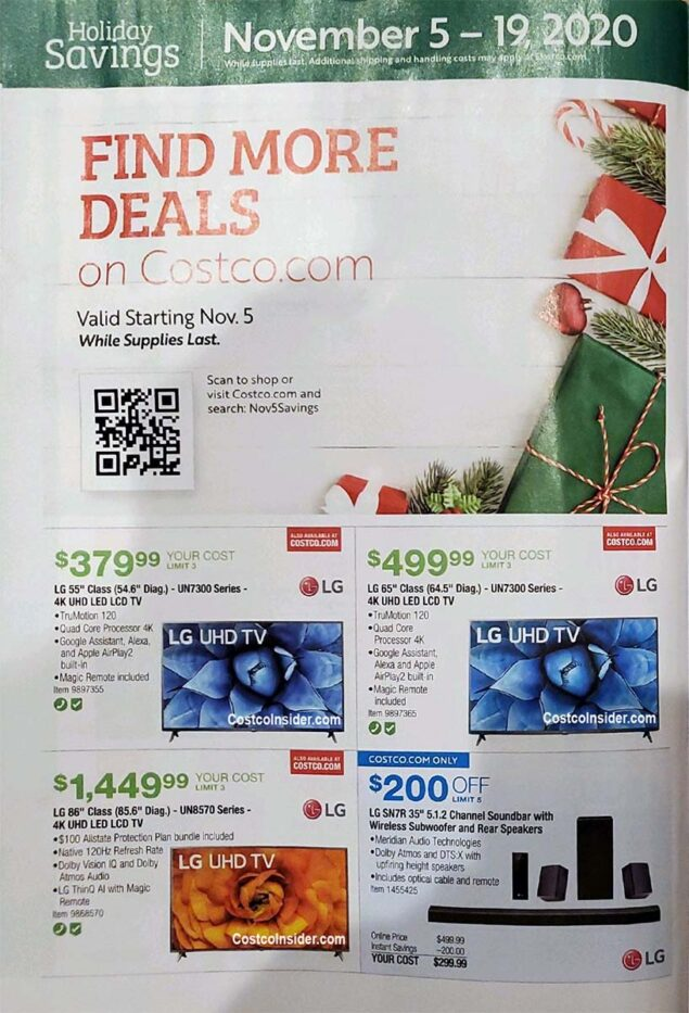 Costco Black Friday 2020 Ad Page 7