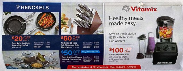 Costco December 2020 Coupon Book Page 1