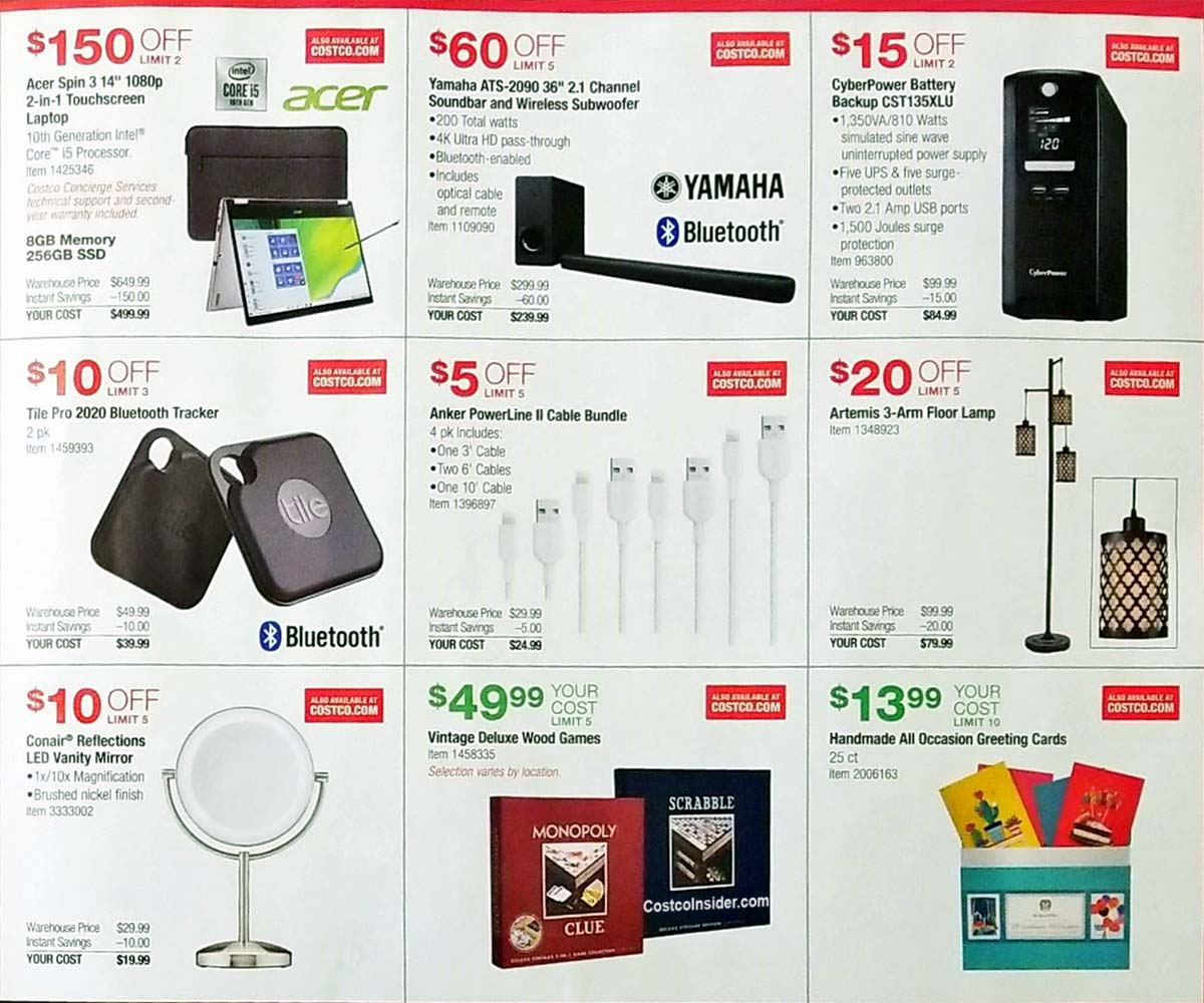 Costco Holiday Handout 2020 Coupons Page 3