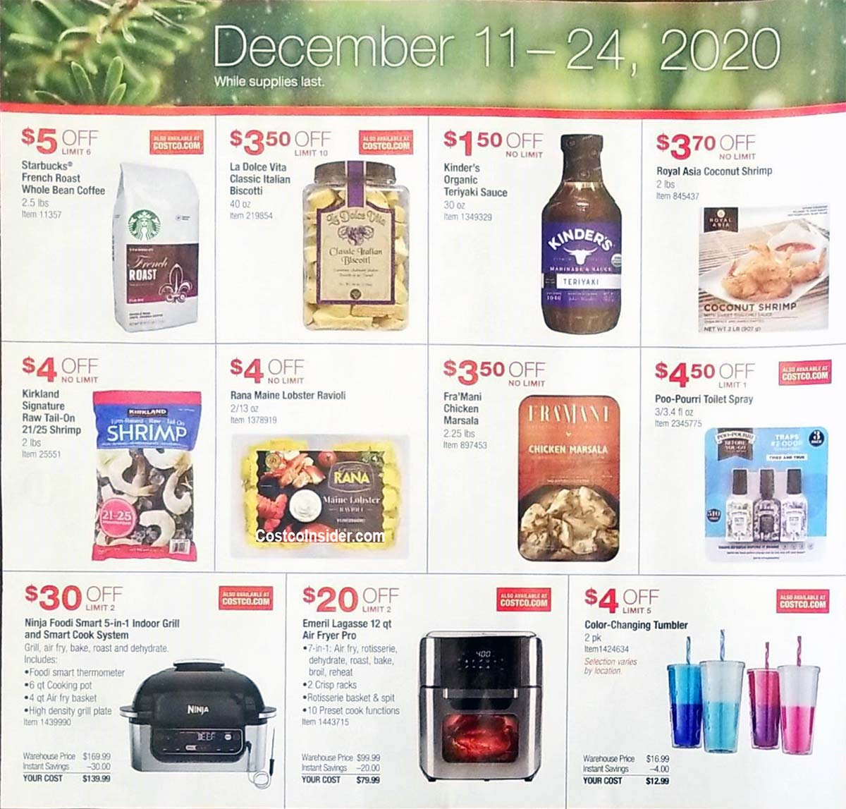Costco Holiday Handout 2020 Coupons Page 4
