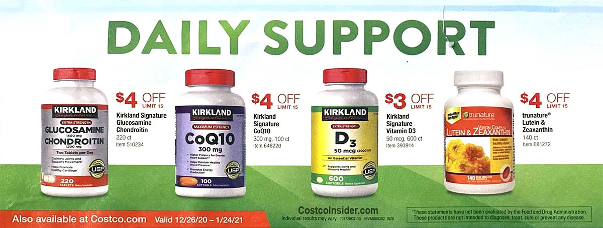 Costco January 2021 Coupon Book Page 1