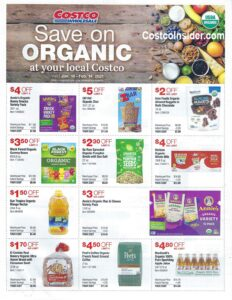 January 2021 Organic Coupons Flyer Page 1