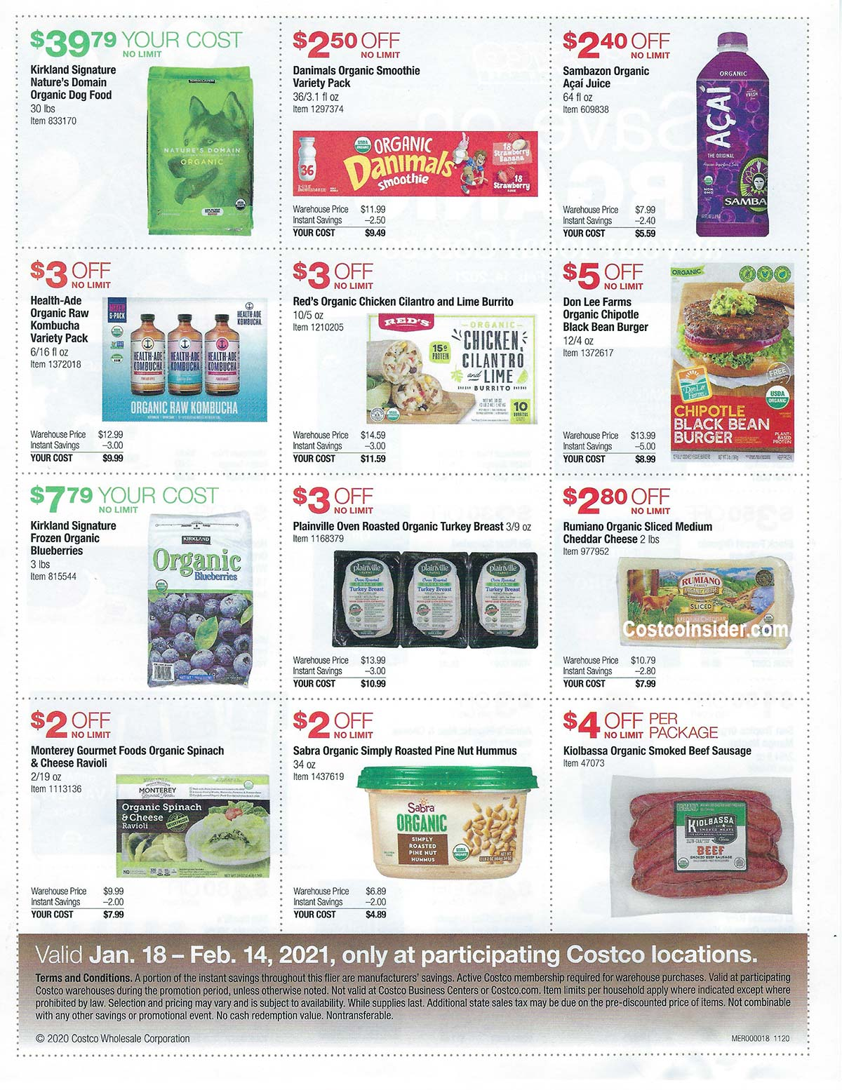 January 2021 Organic Coupons Flyer Page 2