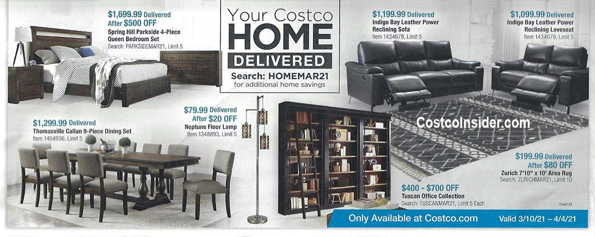 Costco March 2021 Coupon Book Page 1