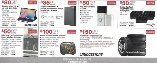 Costco March 2021 Coupon Book Page 12
