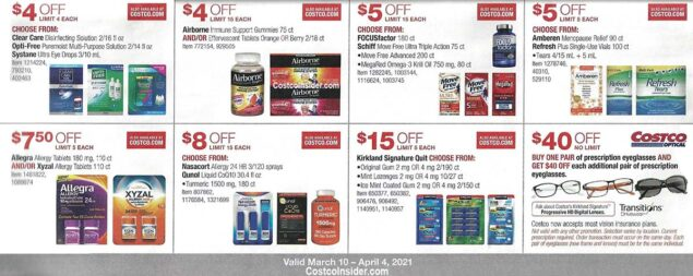 Costco March 2021 Coupon Book Page 20