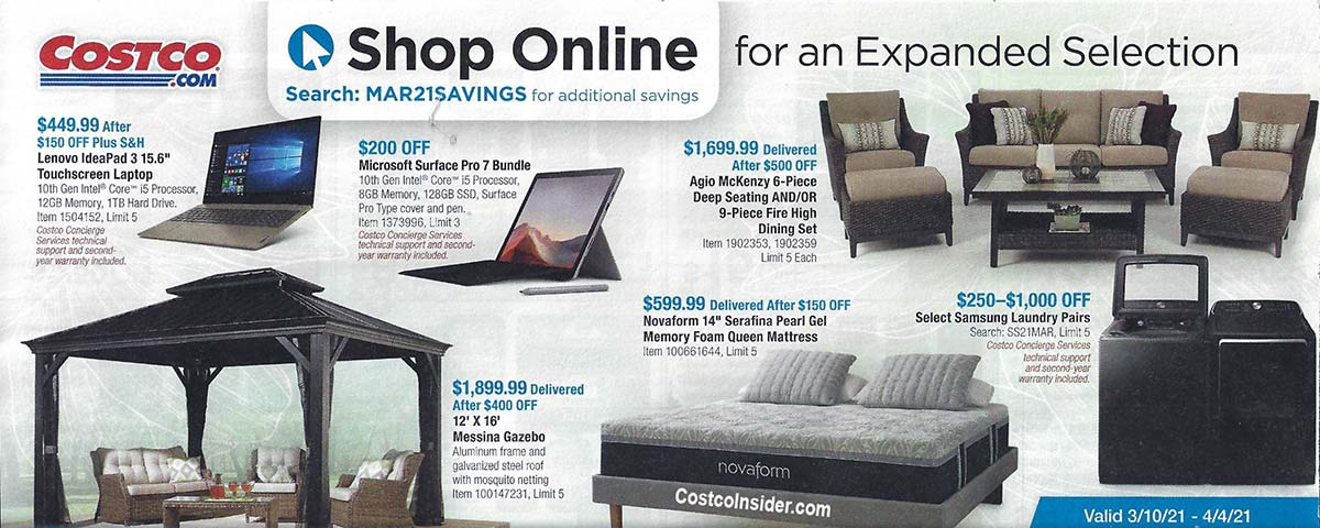 Costco March 2021 Coupon Book Page 21