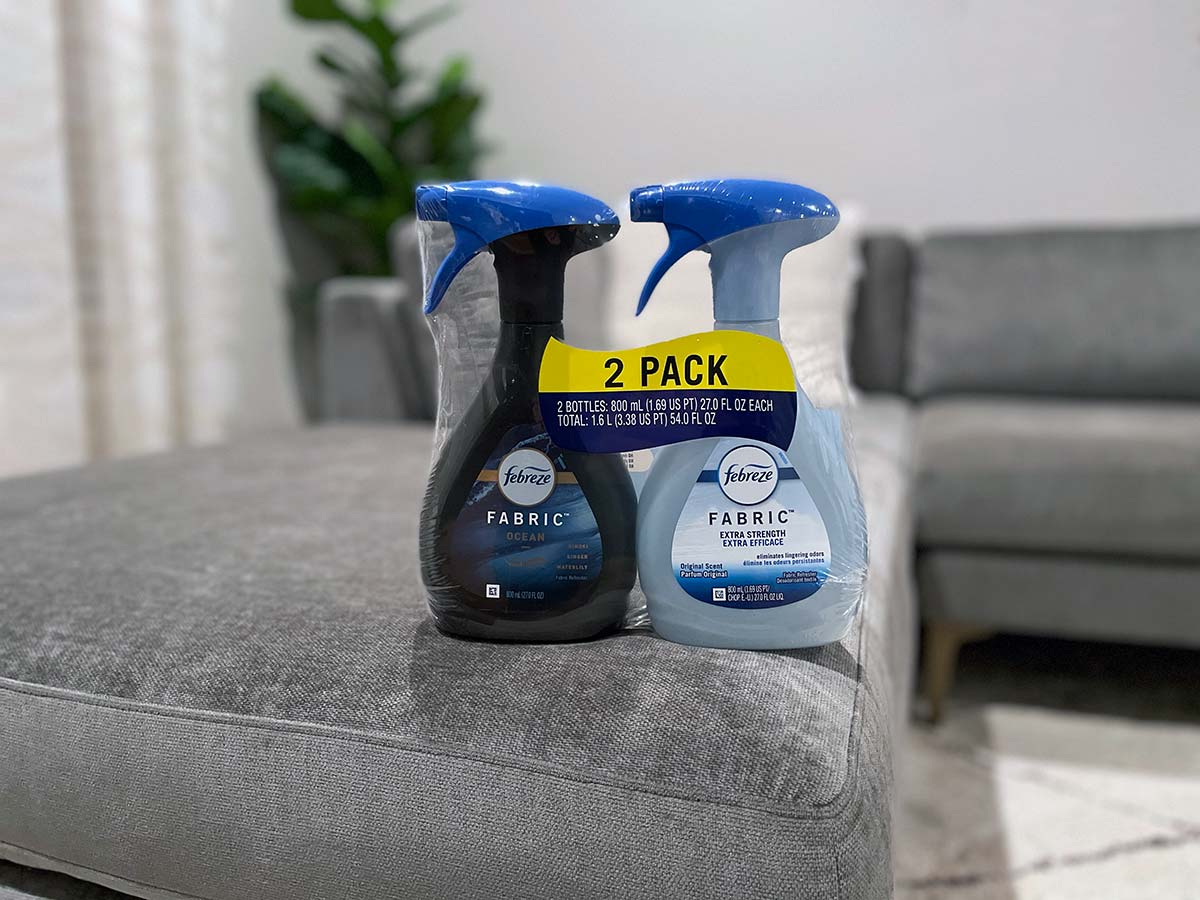 Febreze Fabric Refresher on Couch