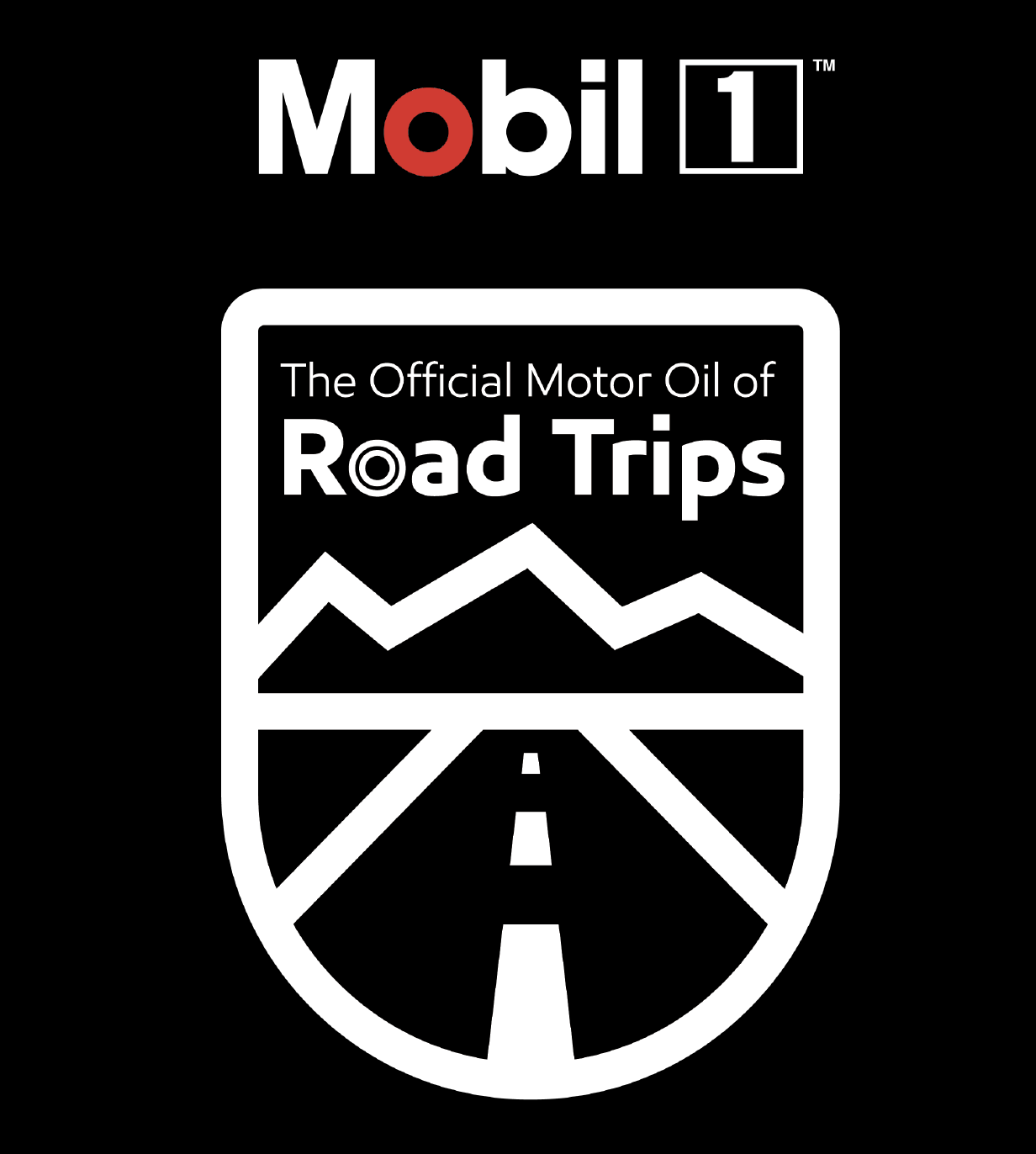 Mobil 1 Official Motor Oil of Road Trips Badge