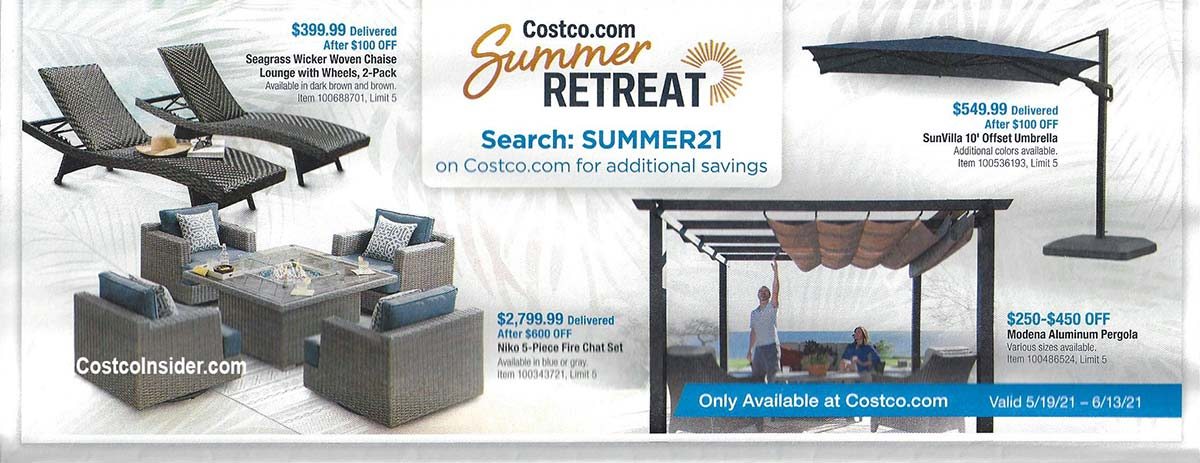 Costco May 2021 Coupon Book Page 1