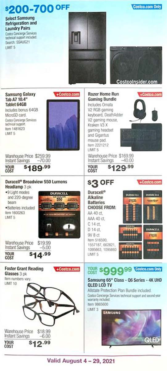 Costco August 2021 Coupon Book Page 10