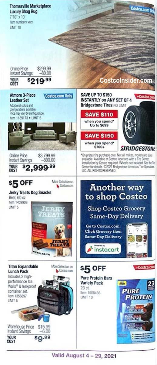 Costco August 2021 Coupon Book Page 13