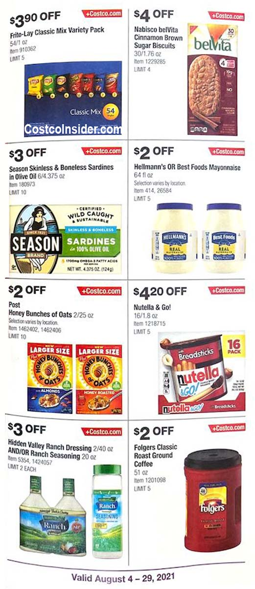 Costco August 2021 Coupon Book Page 16