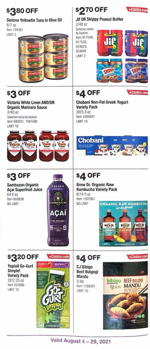 Costco August 2021 Coupon Book Page 17
