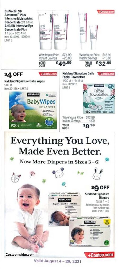 Costco August 2021 Coupon Book Page 2