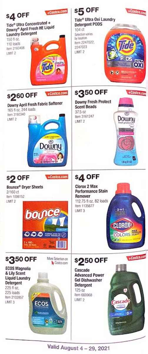Costco August 2021 Coupon Book Page 21