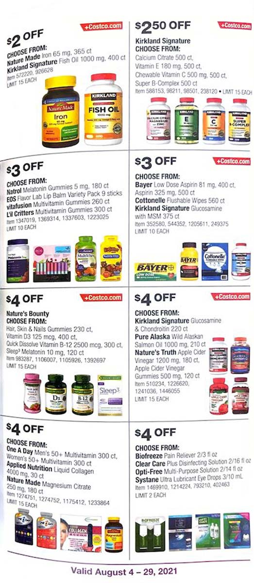Costco August 2021 Coupon Book Page 24