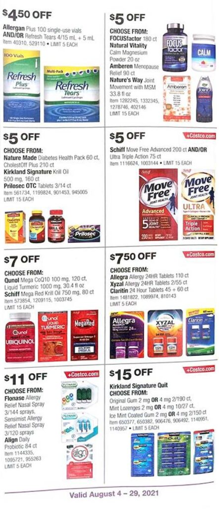 Costco August 2021 Coupon Book Page 25