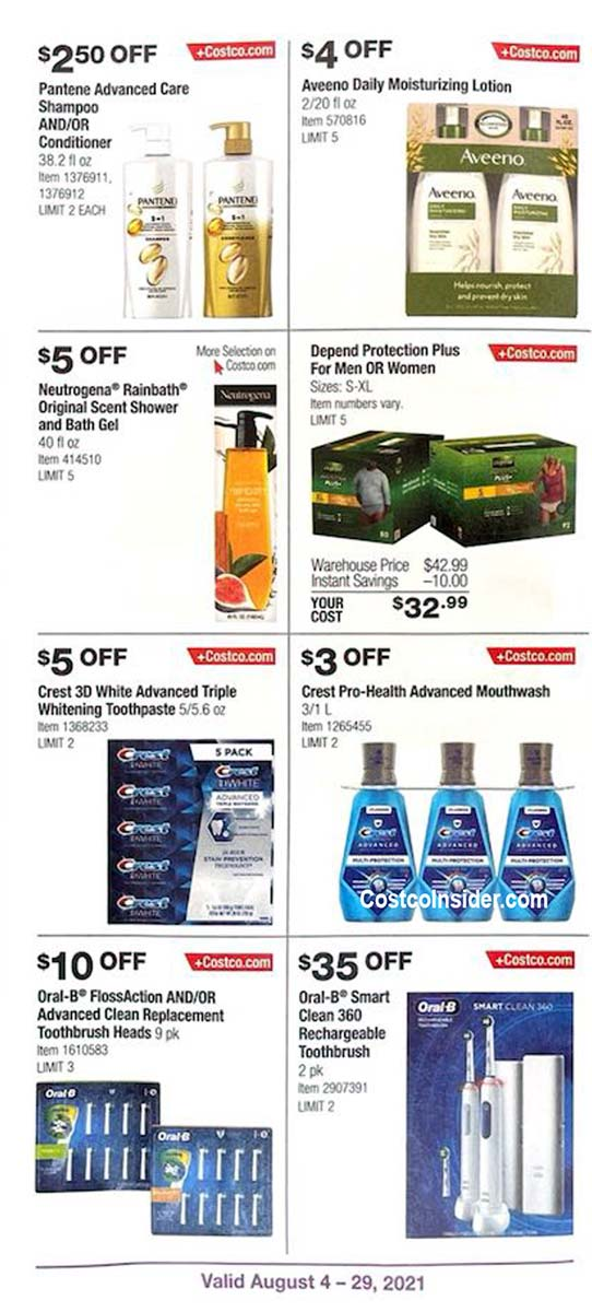 Costco August 2021 Coupon Book Page 3