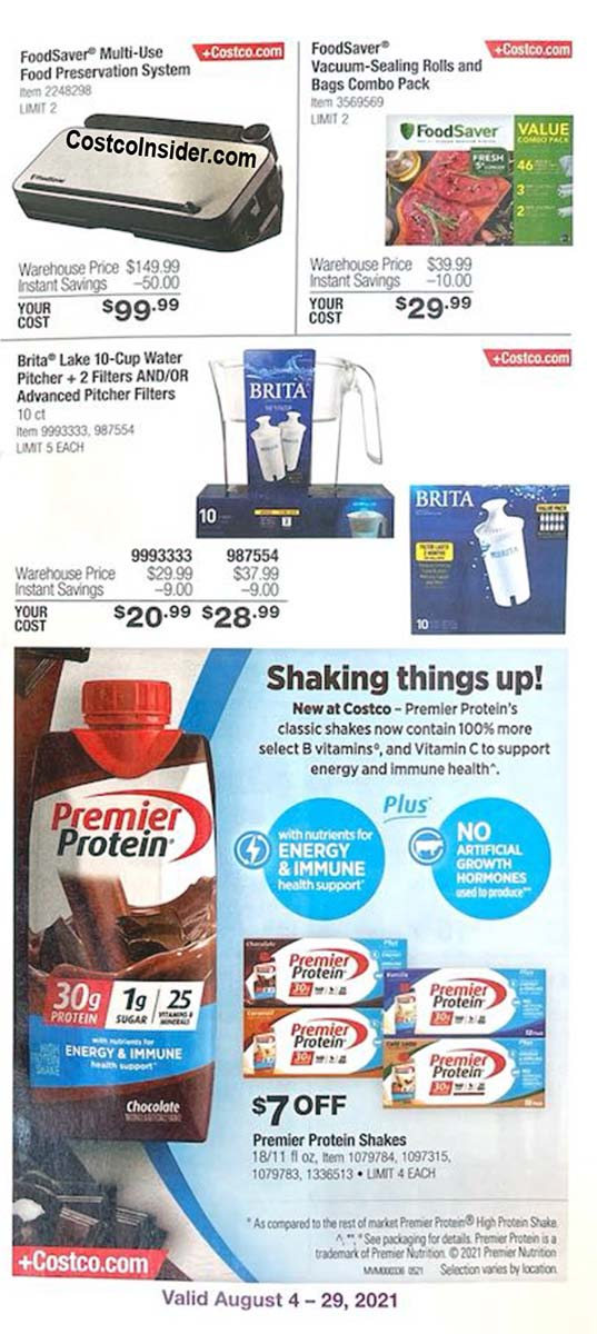 Costco August 2021 Coupon Book Page 4