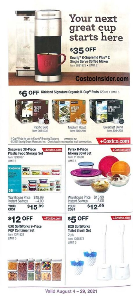 Costco August 2021 Coupon Book Page 5