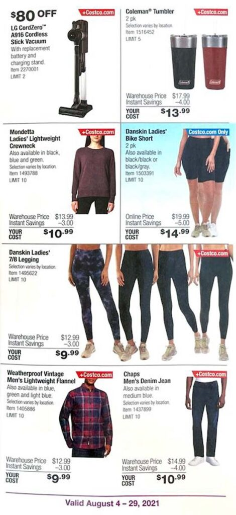 Costco August 2021 Coupon Book Page 6